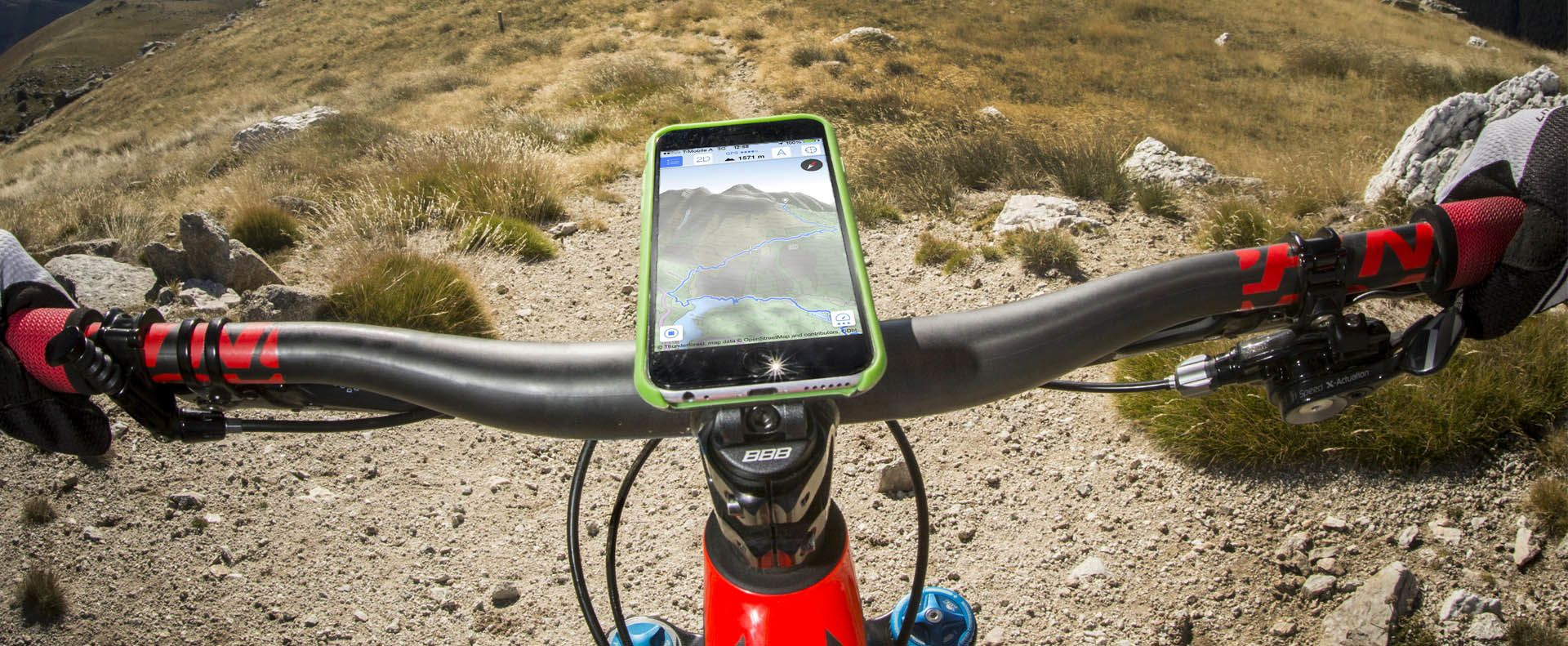 Biking with your smartphone