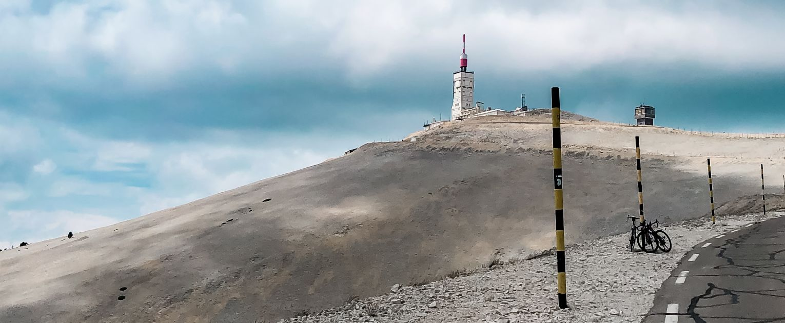 Climbing the Mont Ventoux with Maartje...