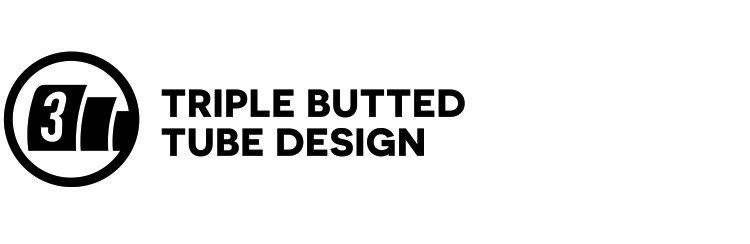 Triple butted tube design