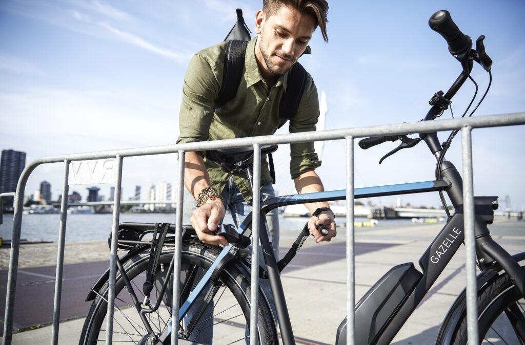 Fahrrad sperren mit Kettenschloss