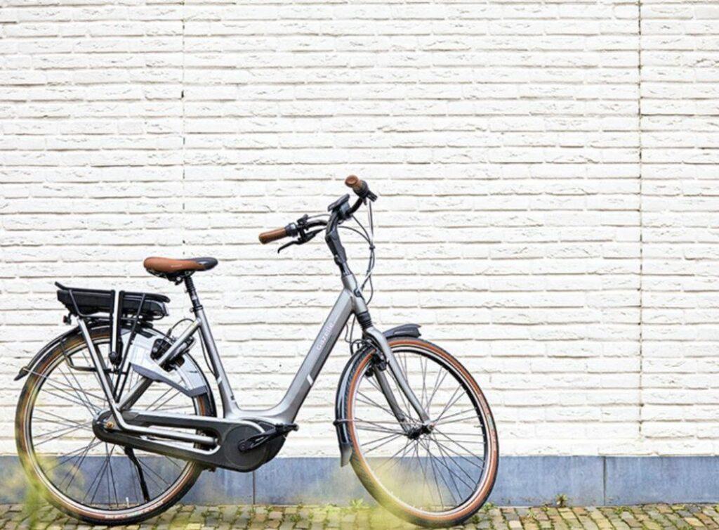 Graues Gazelle E-bike