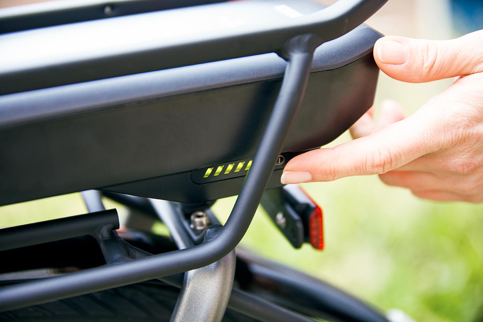 Die verwendung eines E-bike Akkus