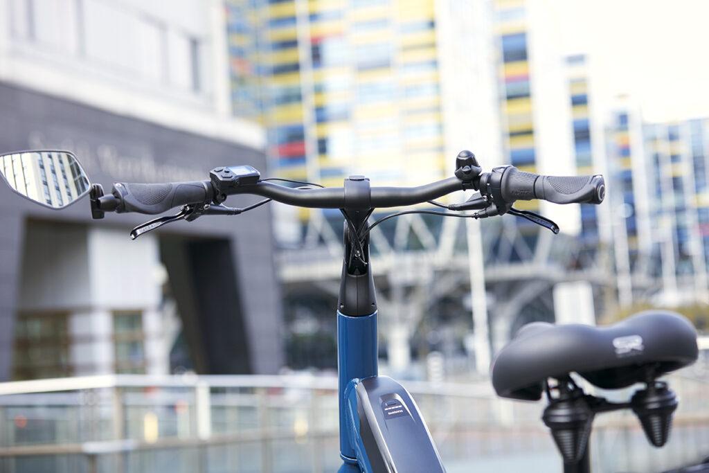 Fahrrad mit Lenkerspiegeln